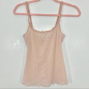 Vintage | Y2K Early 90's Mesh Floral Pink Tank Top